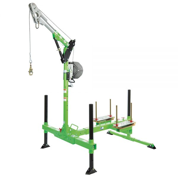 Davit Arm & Portable Base c/w 27x 25Kg Weights
