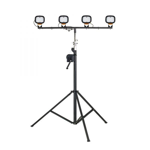 Flood Light – 4 Head Light Mast Telescopic